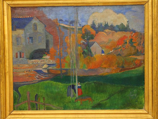 Paul GAUGIN, Paysage de Bretagne. Le moulin David, en 1894