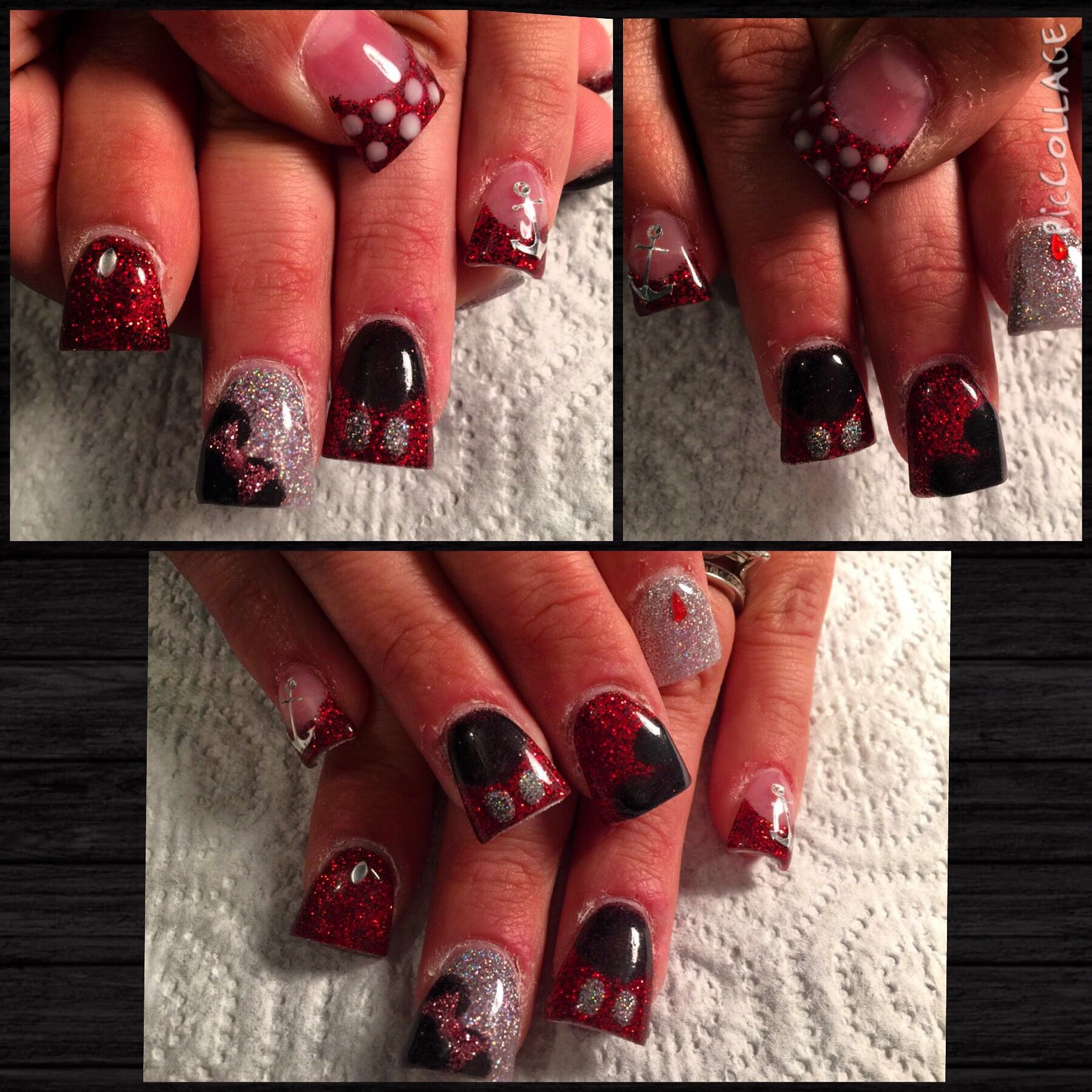 Disneyland Mickey and Minnie Mouse acrylic nail design | My Nail ...