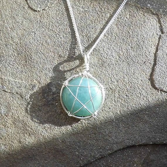 A stunning blue green aquamarine sterling silver pentacle pendant a stunning blue green aquamarine sterling silver pentacle pendant necklace wrapped in 925 sterling silver and a option of a 925 silver chain and 9 aloadofball Images