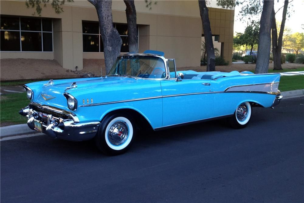 1957 Chevrolet Bel Air Lot 1070 1 Barrett Jackson Auction
