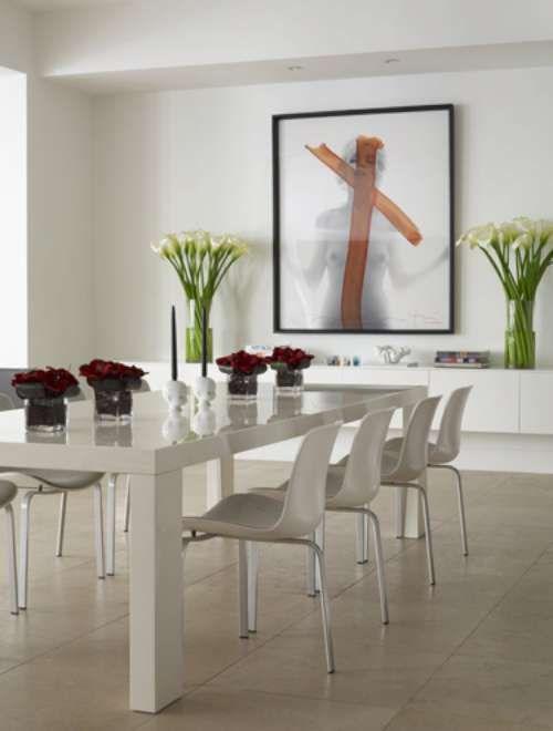 Comedor Blanco | Comedor En Blanco De Un Apartamento Moderno Arquitectura Y