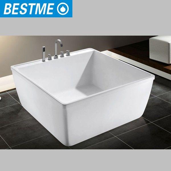 Korea Small Size Square Bath Tub / Portable Acrylic Bathtub For ...