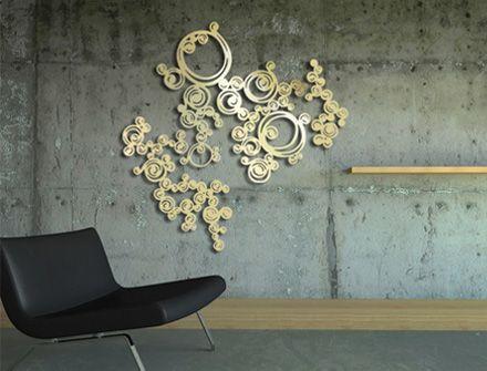 bijou de mur volute gold design sophie briand