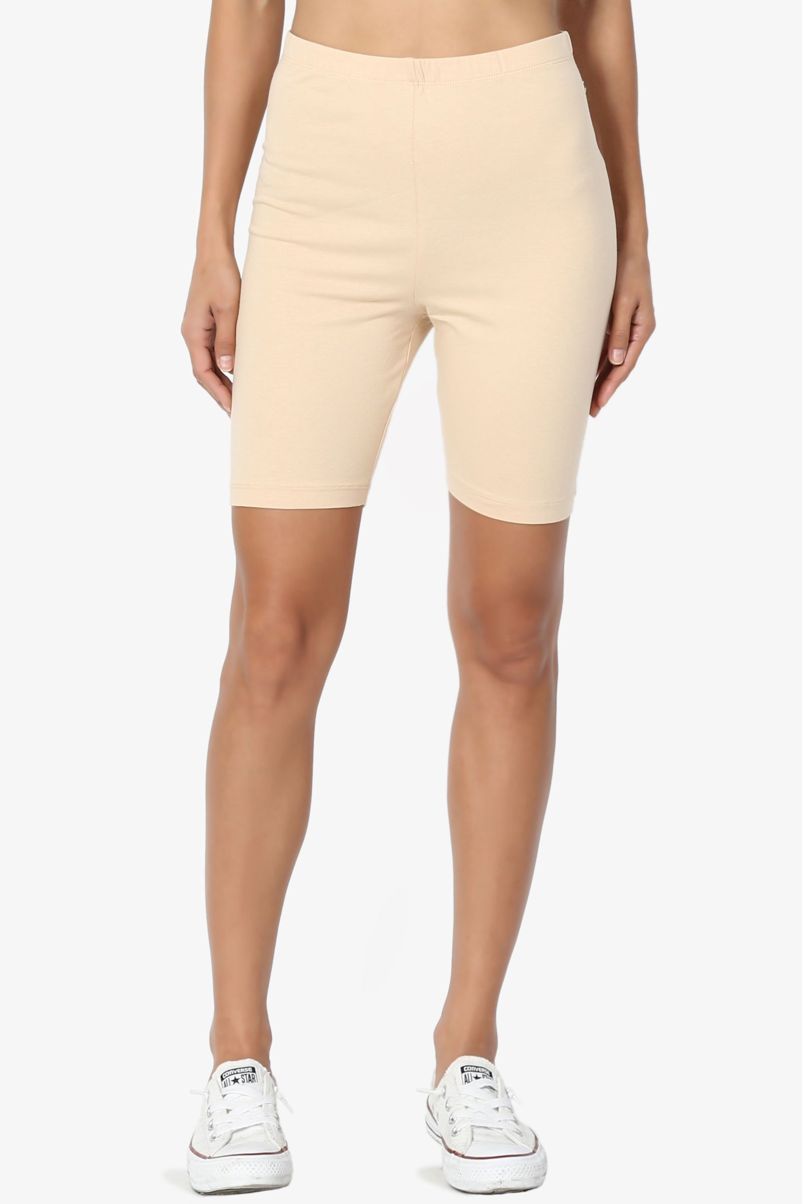 b3d5403c66c708 TheMogan Women's S~3X Mid Thigh Stretch Cotton Active Bermuda Under Short  Leggings#Thigh, #Stretch, #Mid