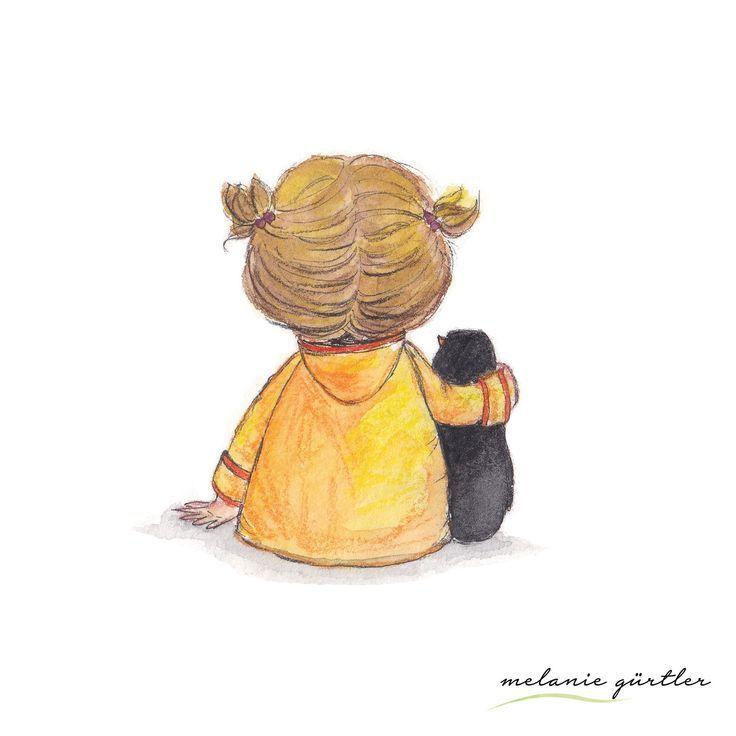 Kinderbuch Illustration Niedlich Aquarell Und Buntstift