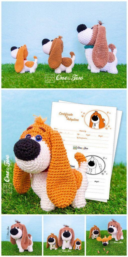 Crochet dachshund dog amigurumi free pattern – Free Amigurumi Patterns #dollhats