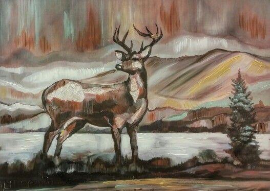 Deer painting / art / nature