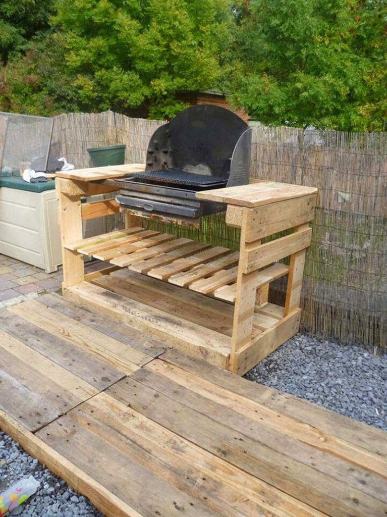 instructions et des plans pour construire un barbecue avec palettes