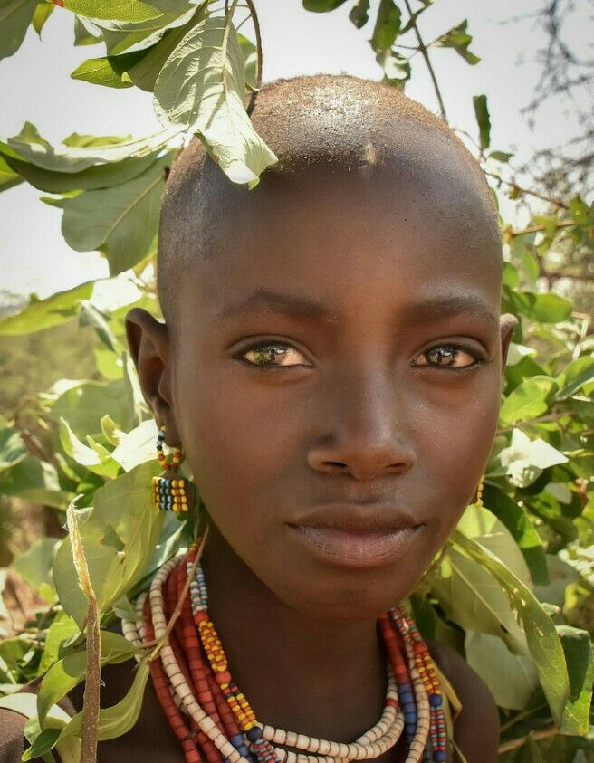 Noia de la tribu Hamer, Etiòpia.