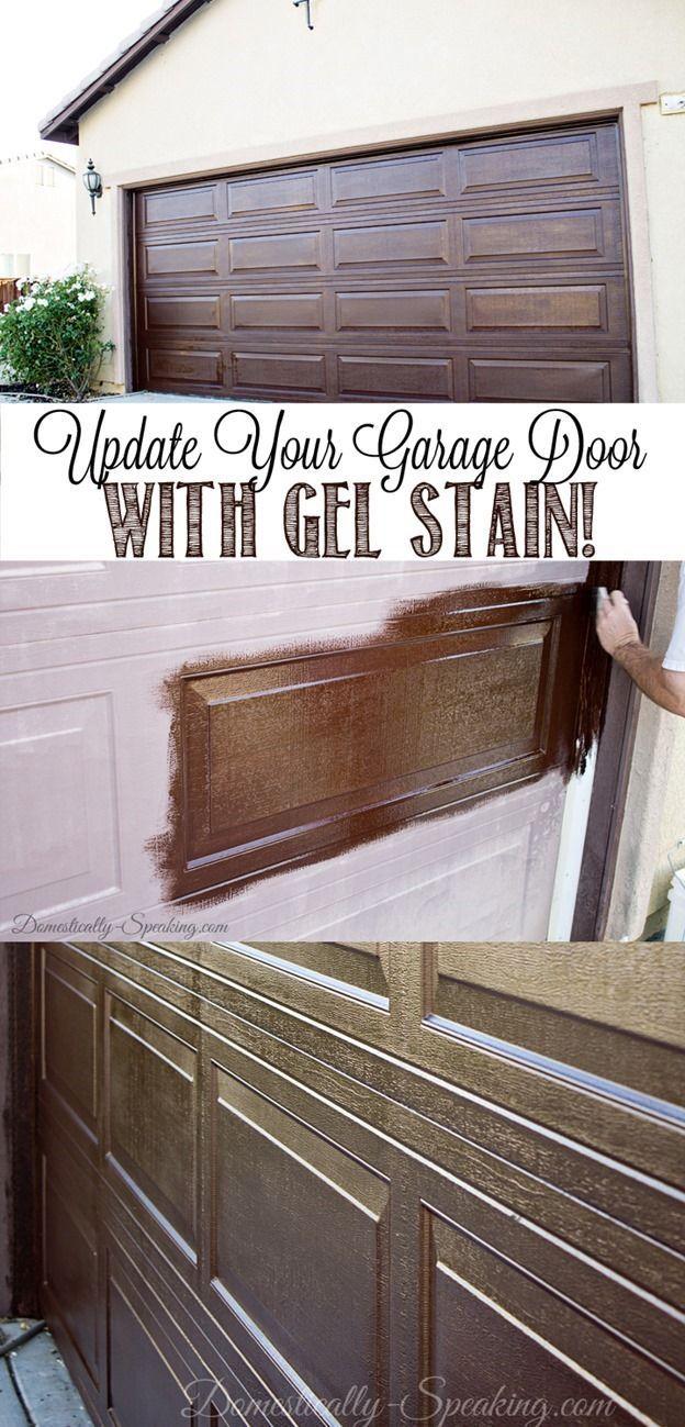 Garage door windows that open  Update Your Garage Door with Gel Stain Create a Faux Wood Look
