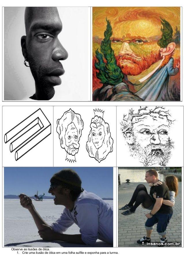 ATIVIDADES DIVERSAS CLÁUDIA: Atividade de arte - Ilusão de ótica