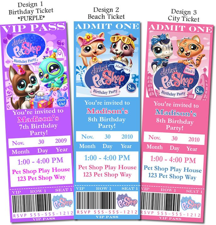 LPS Pictures and Print | Littlest Pet Shop Invitations U Print 4x6 ...