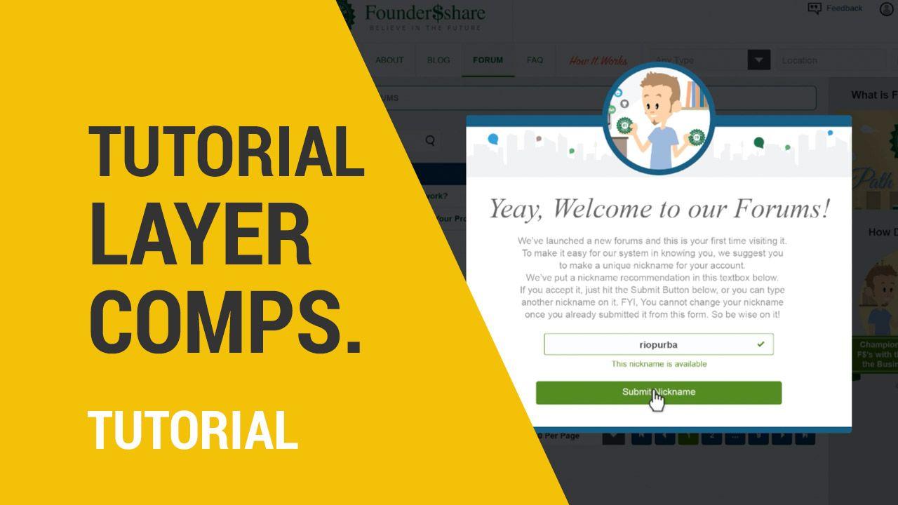 Tutorial Layer Comps Di Photoshop Untuk Web Design Desain Desainmockup Mockup Belajardesain Graphicriver 99desig Desain Web Desain Pembelajaran Belajar