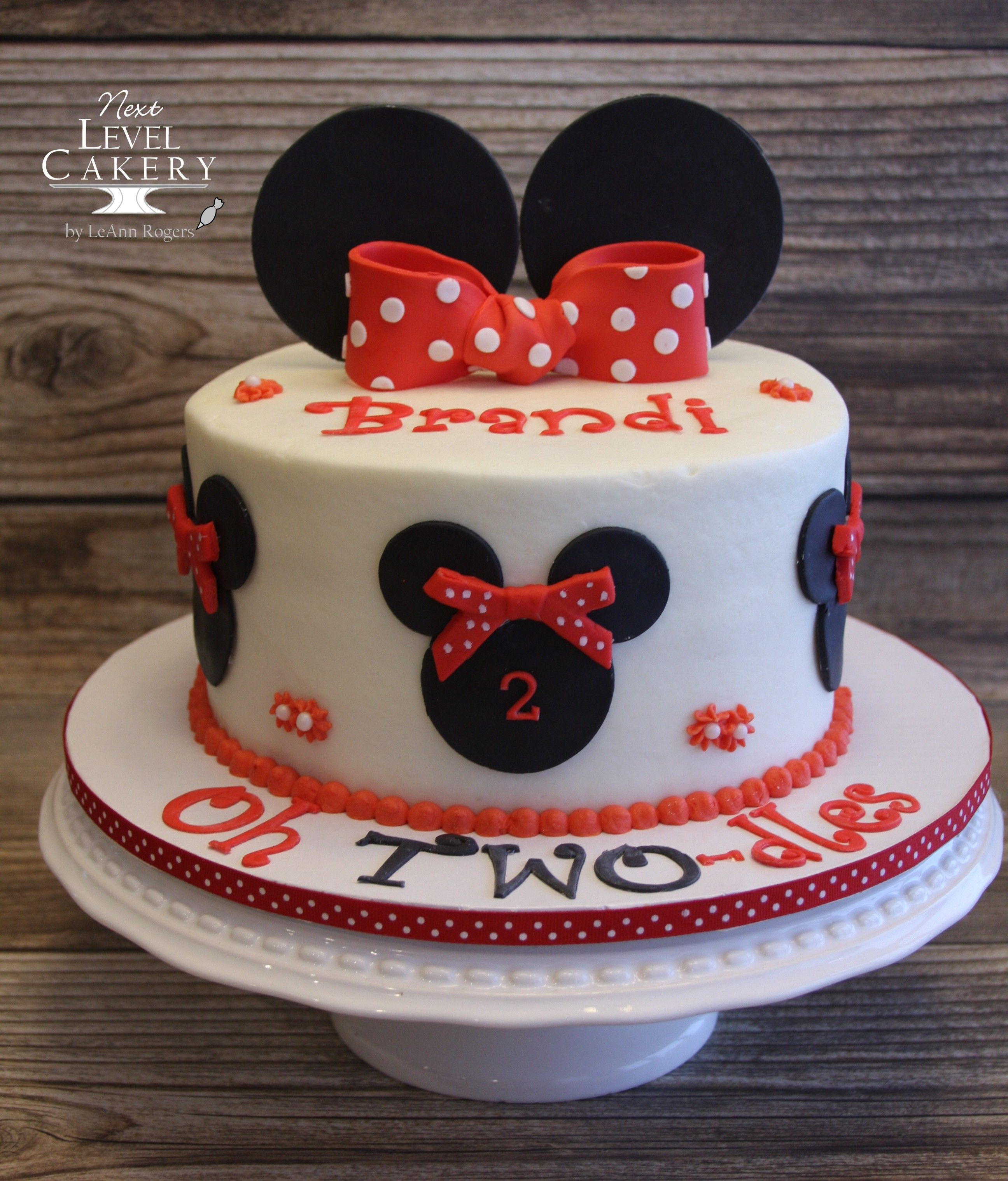 Superb Minnie Mouse Cake Black Red And White Cake Red Bow Minnie Funny Birthday Cards Online Overcheapnameinfo