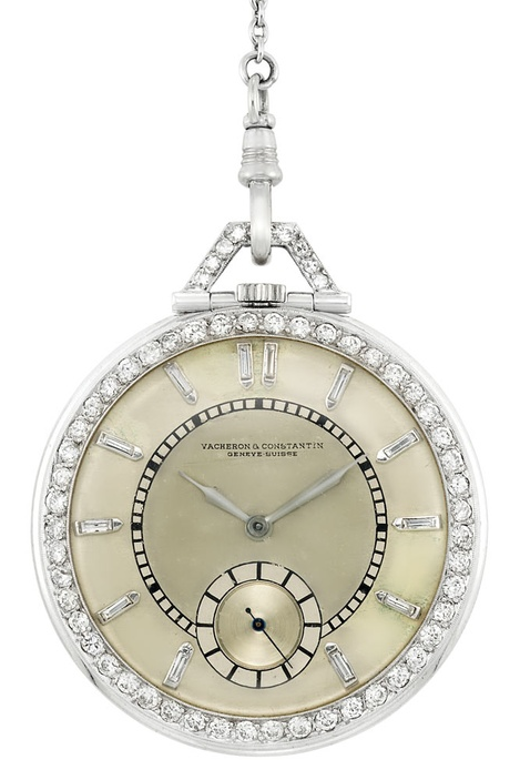 fe4ed2cc035 Art Deco Diamond Pocket Watch