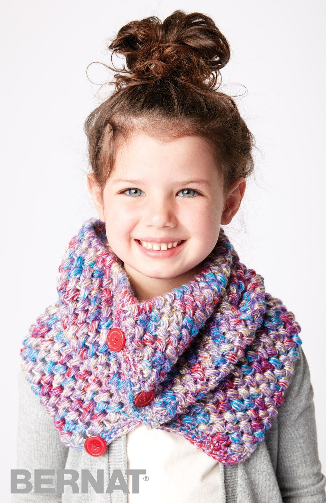 Kid Cowl - free crochet pattern in English and French by Bernat at ...