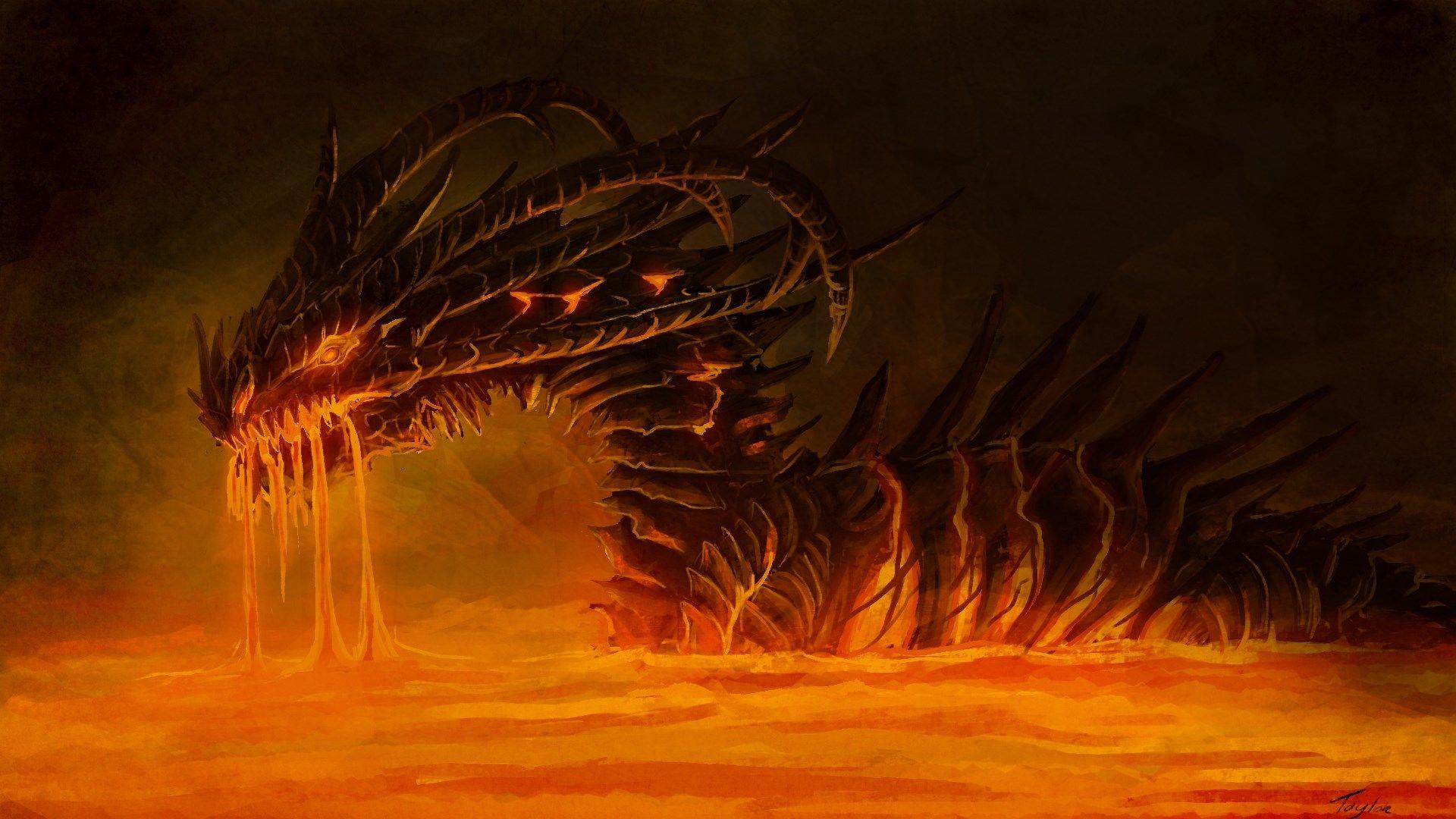 Fire Dragon 1080p Wallpaper
