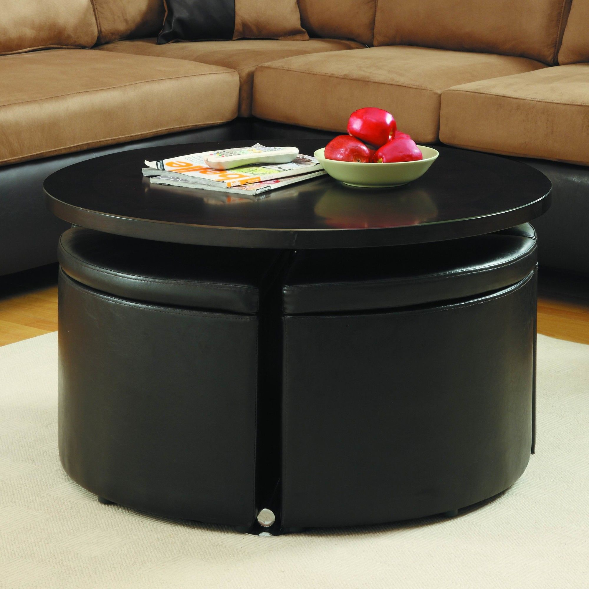 Harriet Gas Lift Coffee Table with Ottomans Products