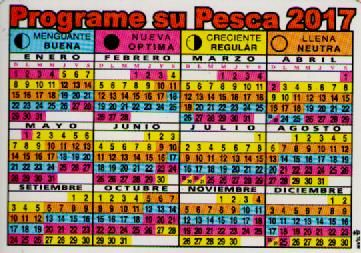 Calendario De Pesca.Tabla Lunar Y Horaria Programa Tu Salida De Pesca Segun La Tabla