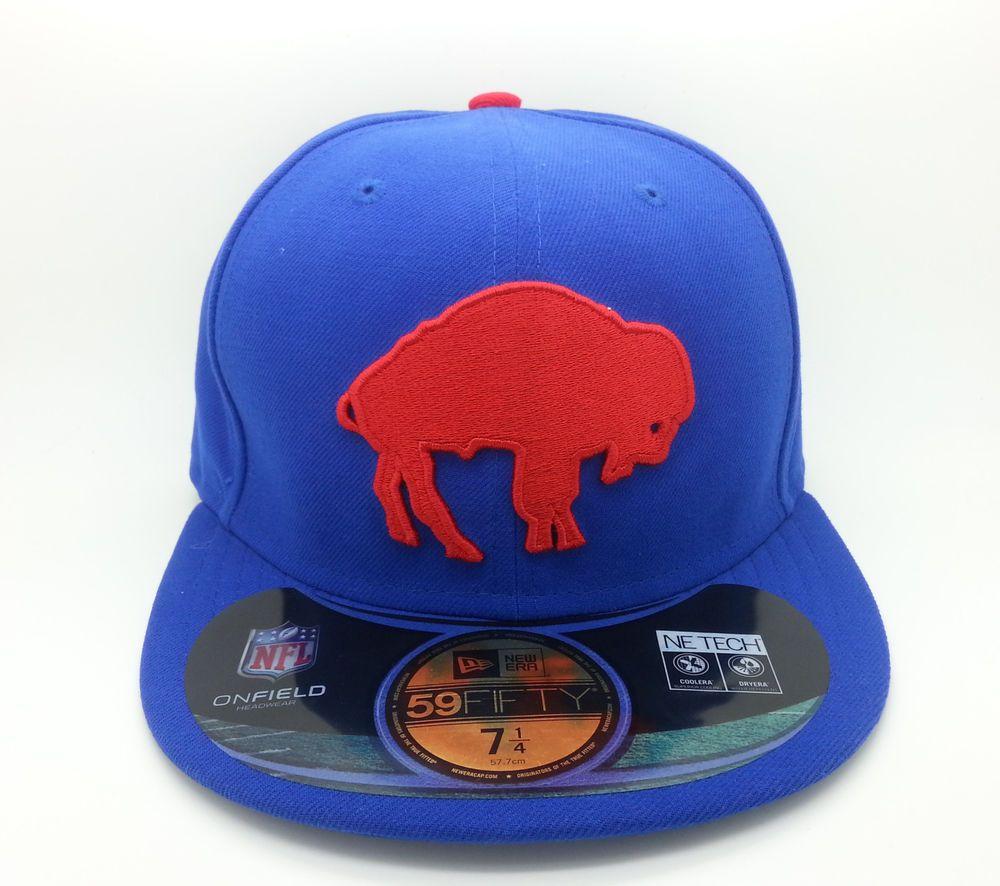 BUFFALO BILLS NFL ON FIELD NEW ERA 59 FIFTY LOGO FITTED HAT CAP (SIZE 7 1 4 )-NEW  NEWERA59FIFTY  BuffaloBills f3672ebcf
