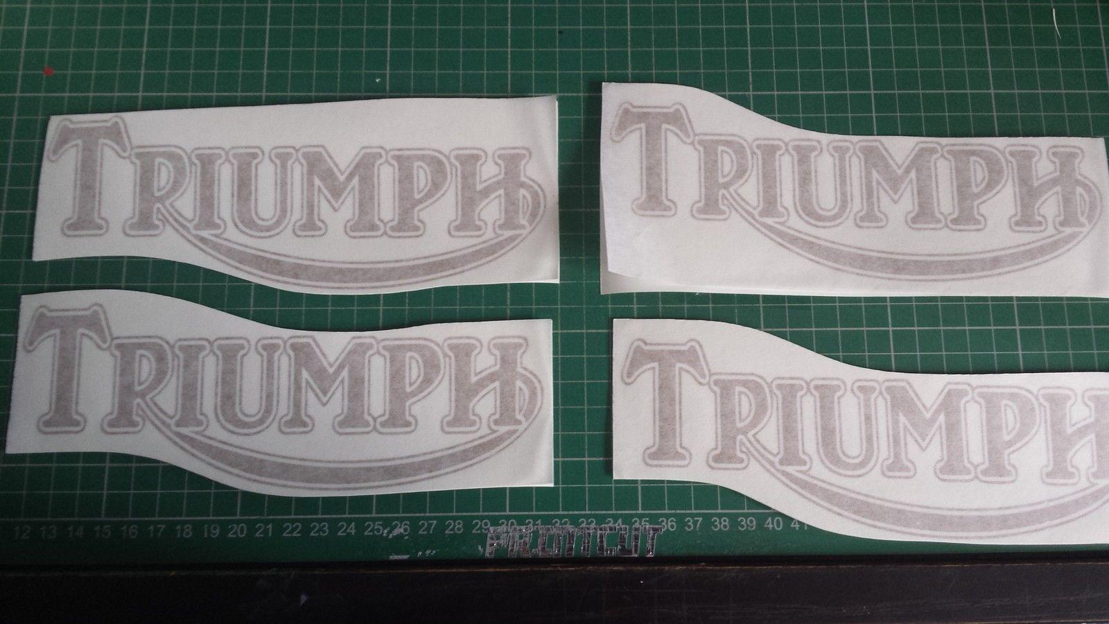 Triumph Tank Decal X Stickerdecalgraphicsrestoration EBay - Triumph motorcycle custom stickers decals