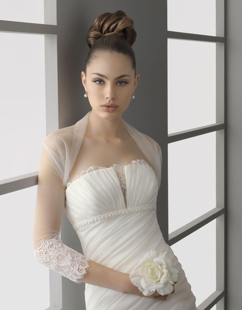 Sheer Bridal Bolero Three Quarter Length Sleeves Lace Lique