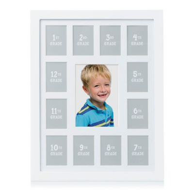 Pearhead 13 Photo K 12 School Years Wall Frame In White Bed Bath Beyond School Photo Frames Frames On Wall Kindergarten Photos