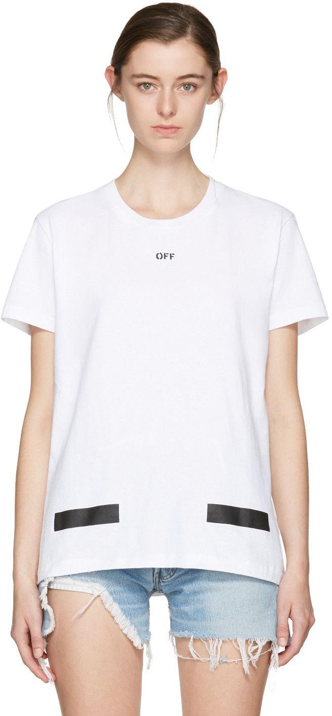 4f0b964dcdd98 OFF-WHITE Ssense Exclusive White Diagonal Tulips T-Shirt.  off-white