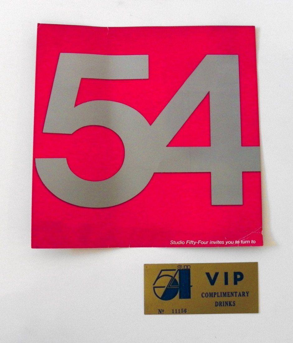 Studio 54 Drink Ticket; New Year's Invitation