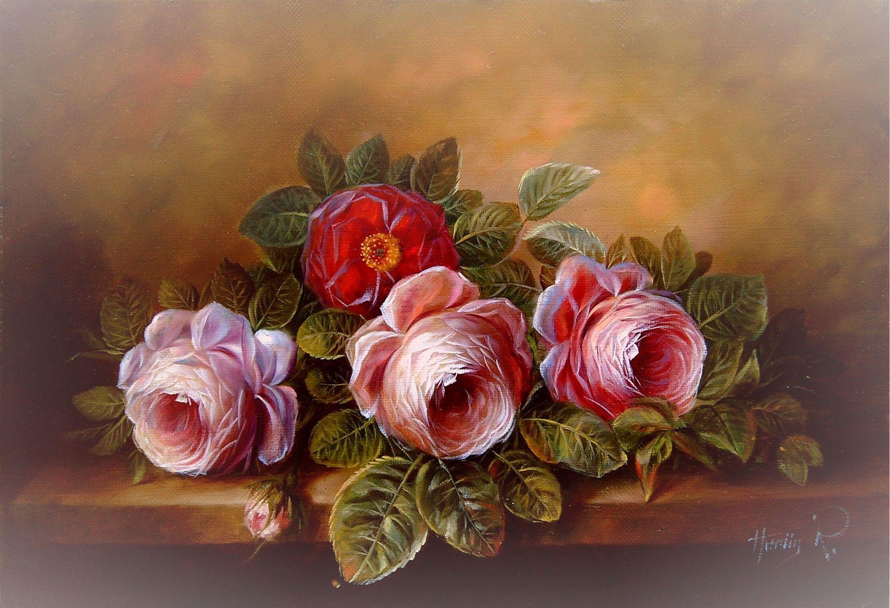 BlumenStillleben  lmalerei Atelier Herdin  lmalerei  Pinterest  Stillleben Malerei und