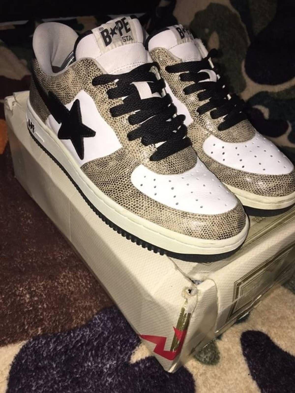 70519b5870d60 Bape OG Bape Snakeskin Bapestas Size 10 - Low-Top Sneakers for Sale -  Grailed