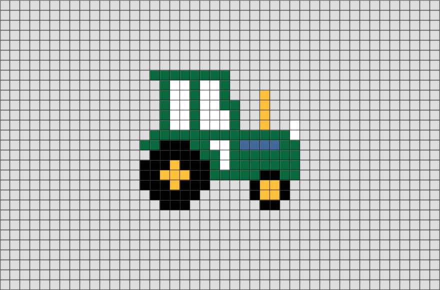 John Deere Ornament Pixel Art | Boy cross stitch | Pinterest | Punto ...