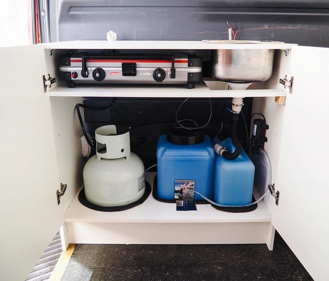 This Diy Guide To Installing A Campervan Water System Will Show You How To Install An Rv Hand Sink Pump Foot Sink Pump Camper Interior Camper Van Tiny Camper