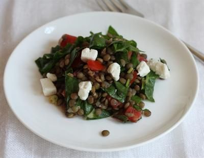 21 Health-Boosting Lentil Recipes: Lentil Salad with Chard and Tomatoes