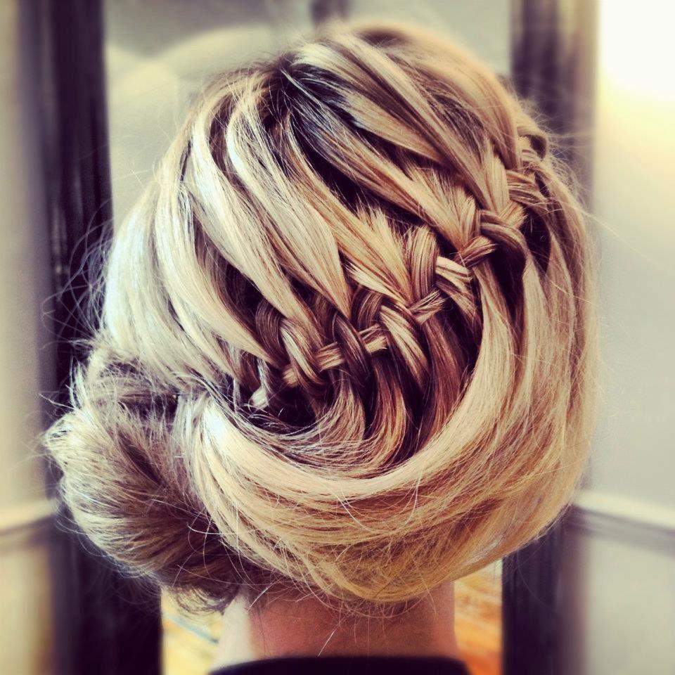 Waterfall braid hair up featured in Elle magazine  UniqueCute