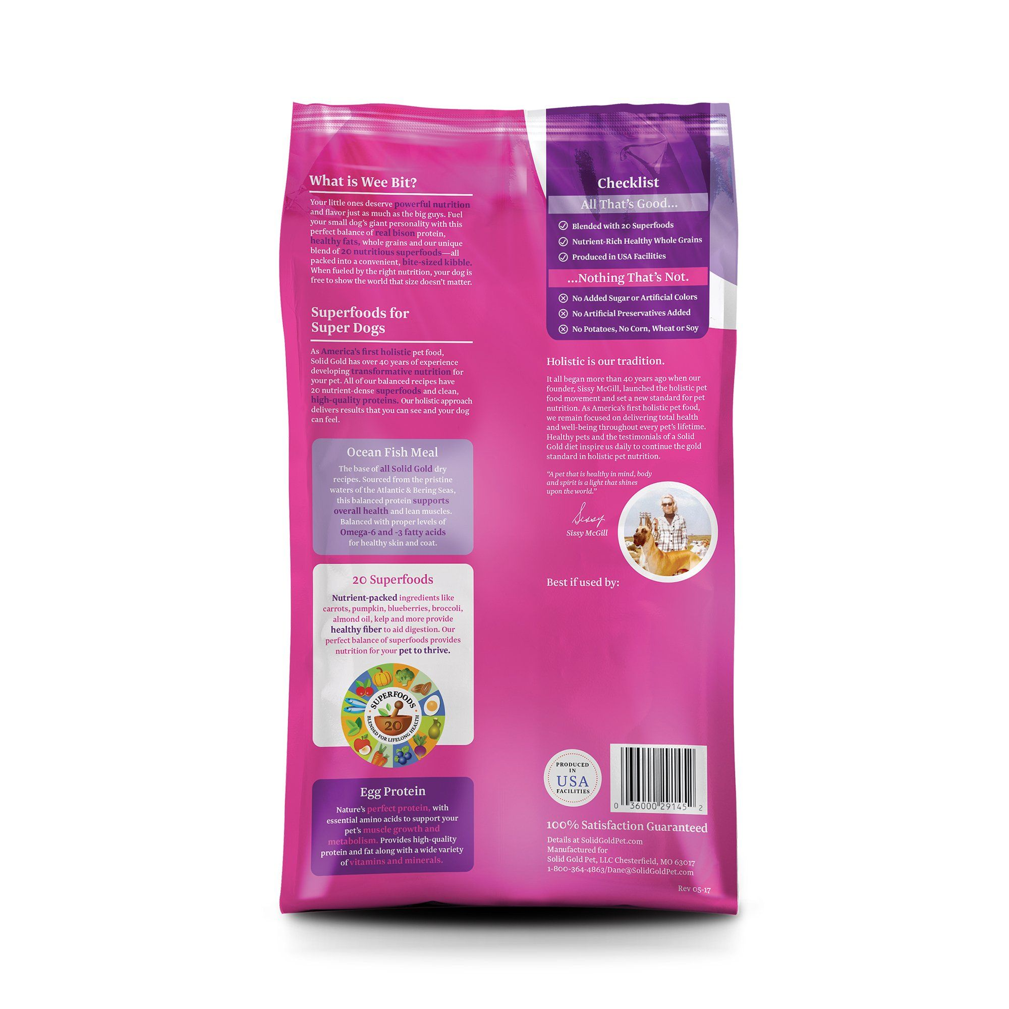 Solid Gold Wee Bit Holistic Dry Dog Food Bison And Brown Rice With