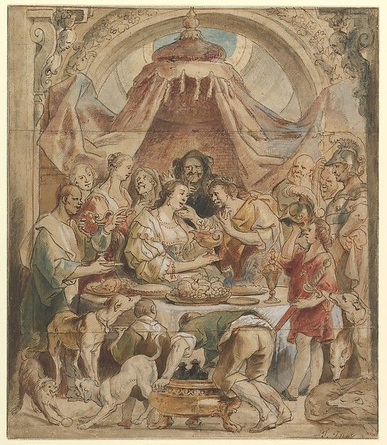 Jacob Jordaens (Flemish, 1593–1678). The Banquet of Anthony and Cleopatra, 17th century. The Metropolitan Museum of Art, New York. Rogers Fund, 1963 (63.104).