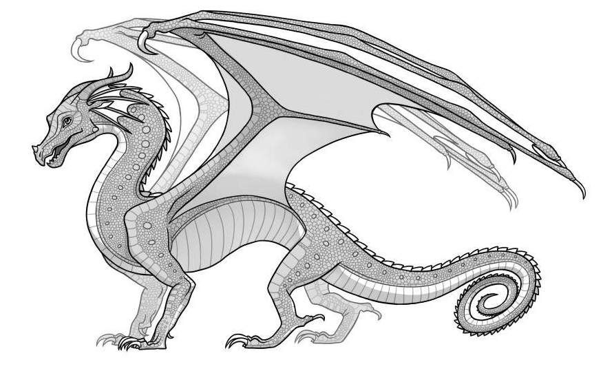 rainwings dragons coloring pages - Google Search | Wings Of Fire ...