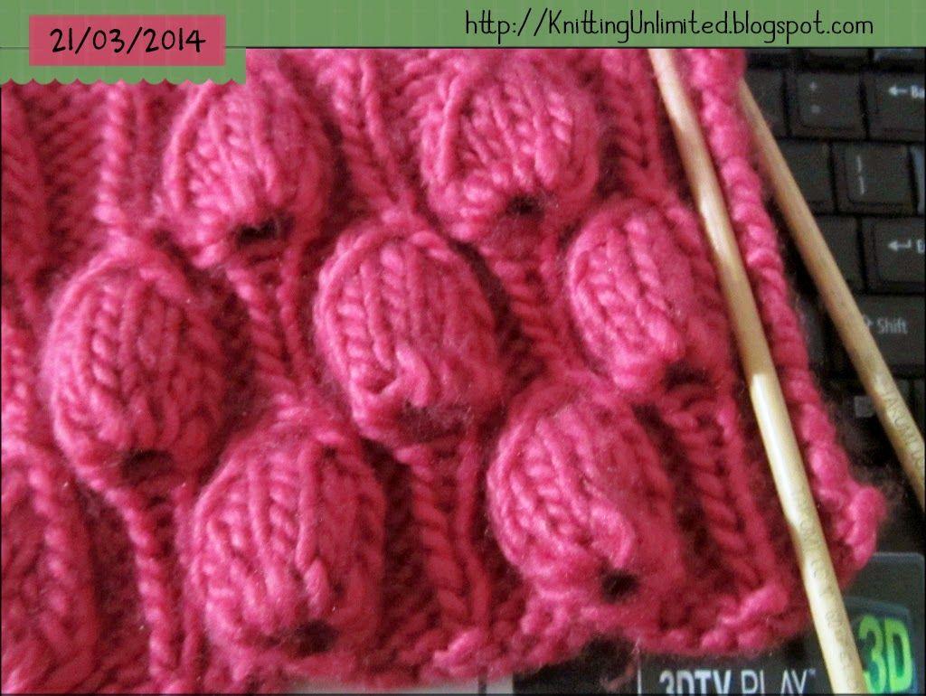 Big raindrop knitting stitch pattern   knittingunlimited ...