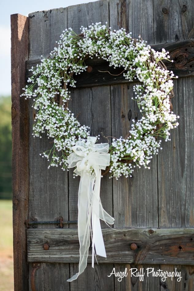 Baby Breath Wreath Our Happily Ever After Church