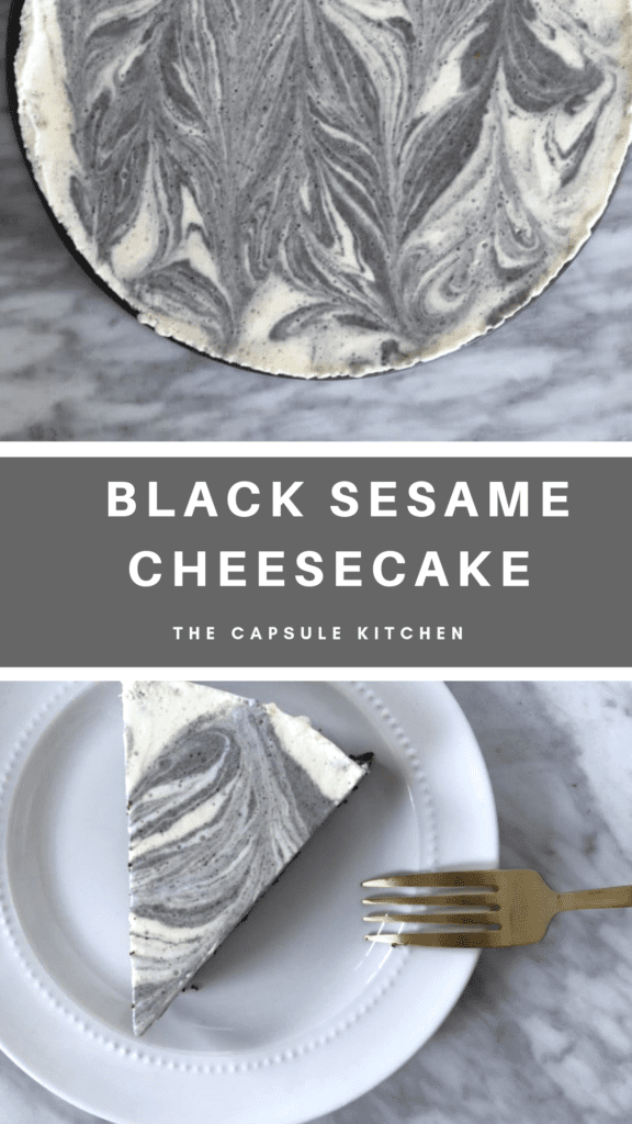 black sesame marble cheesecake  mimi newman  recipe in