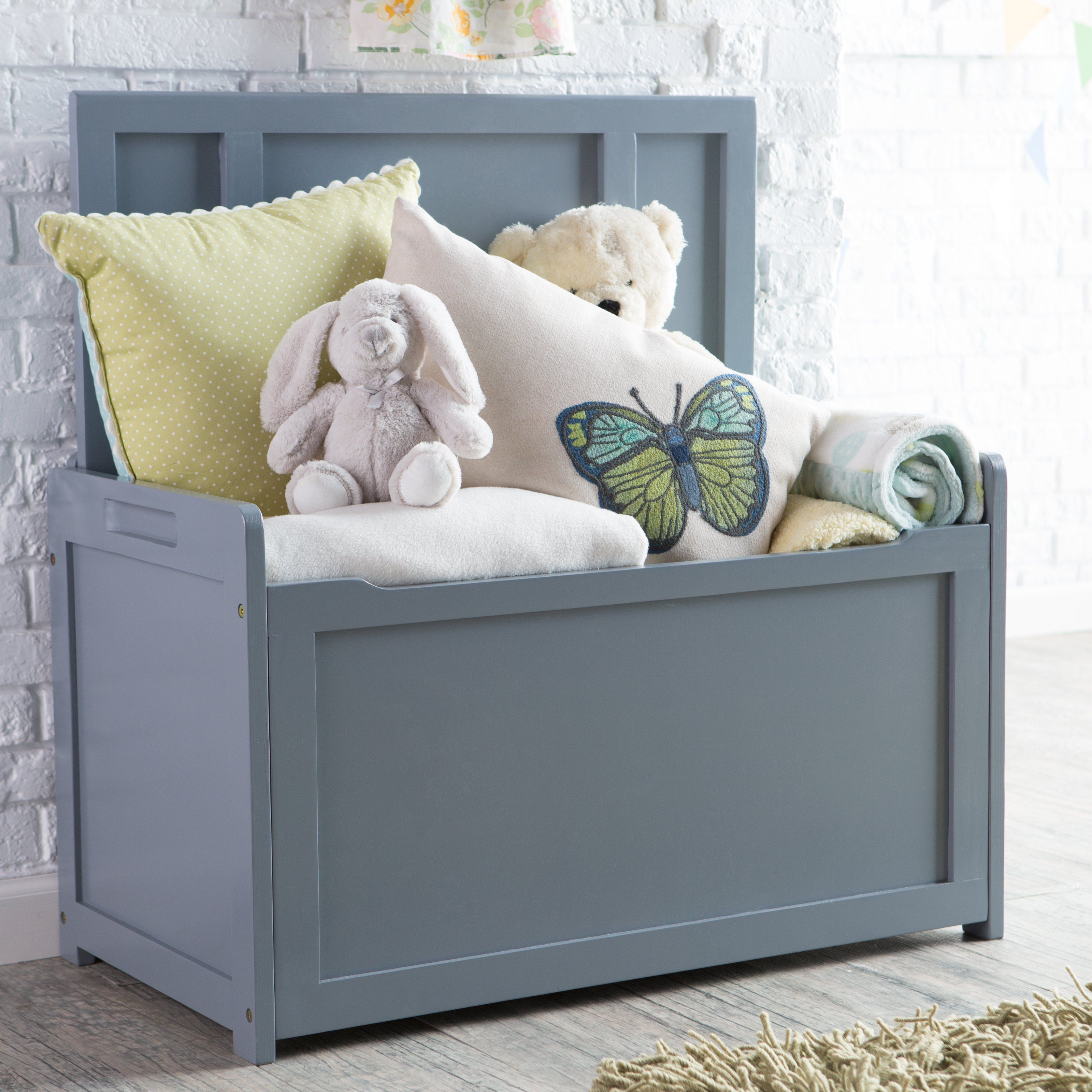 Lipper Gray Toy Box Toy Storage At Hayneedle Kids Toy Boxes