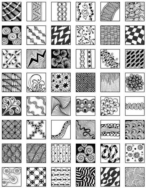 Zentangle patterns for beginners bing images pinteres for Drawing patterns for beginners