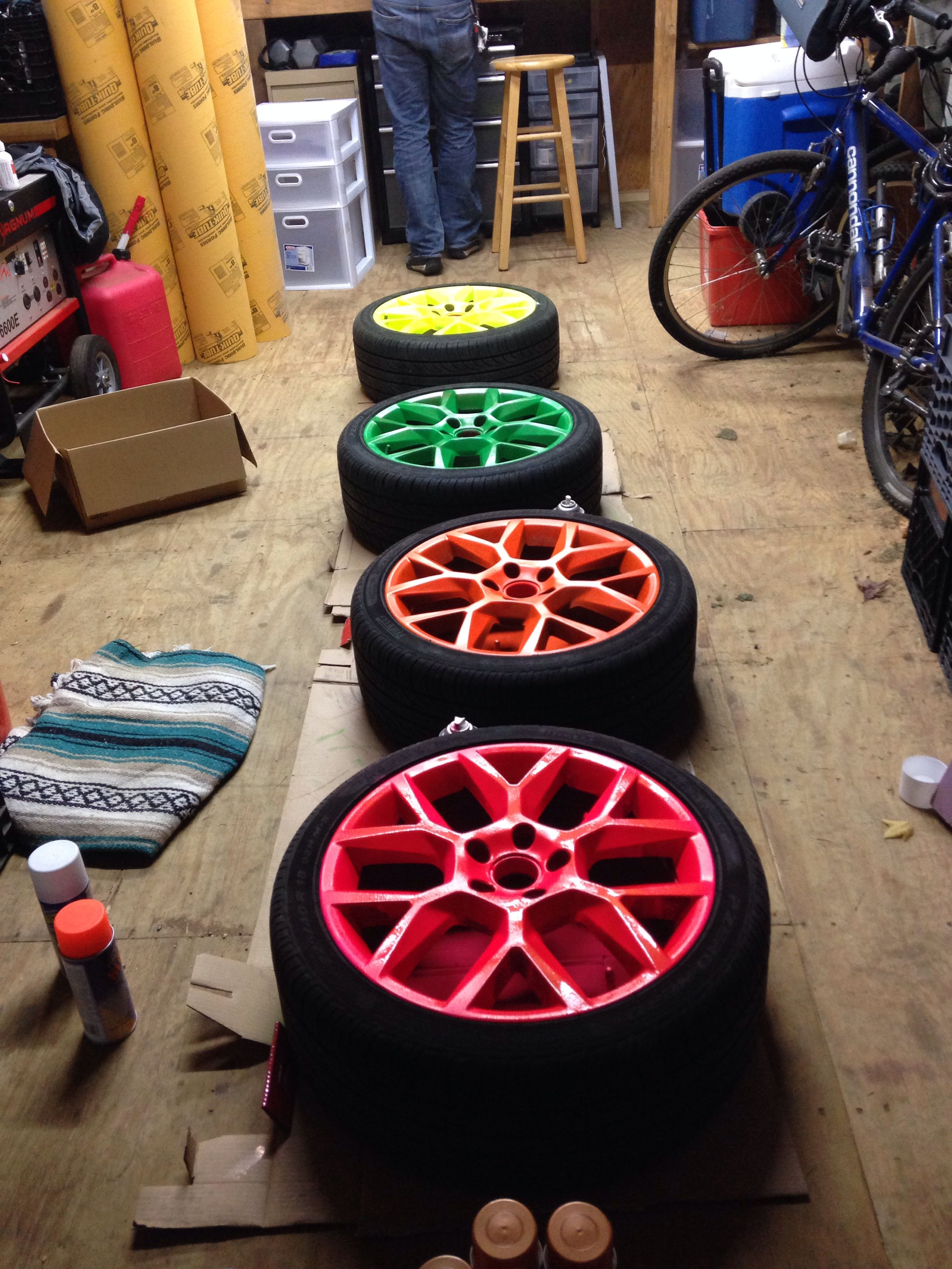 Plasti Dip your car's wheels! Plasti Dip sold at Crown Ace
