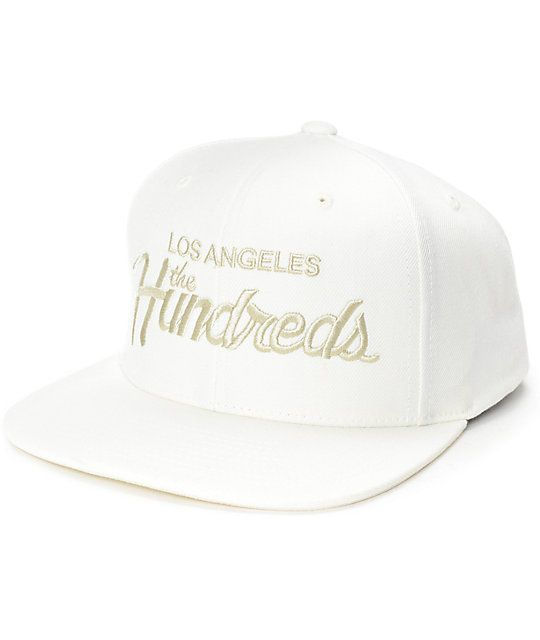 The Hundreds Forever Team Off White Snapback Hat  e73c723a5fa9