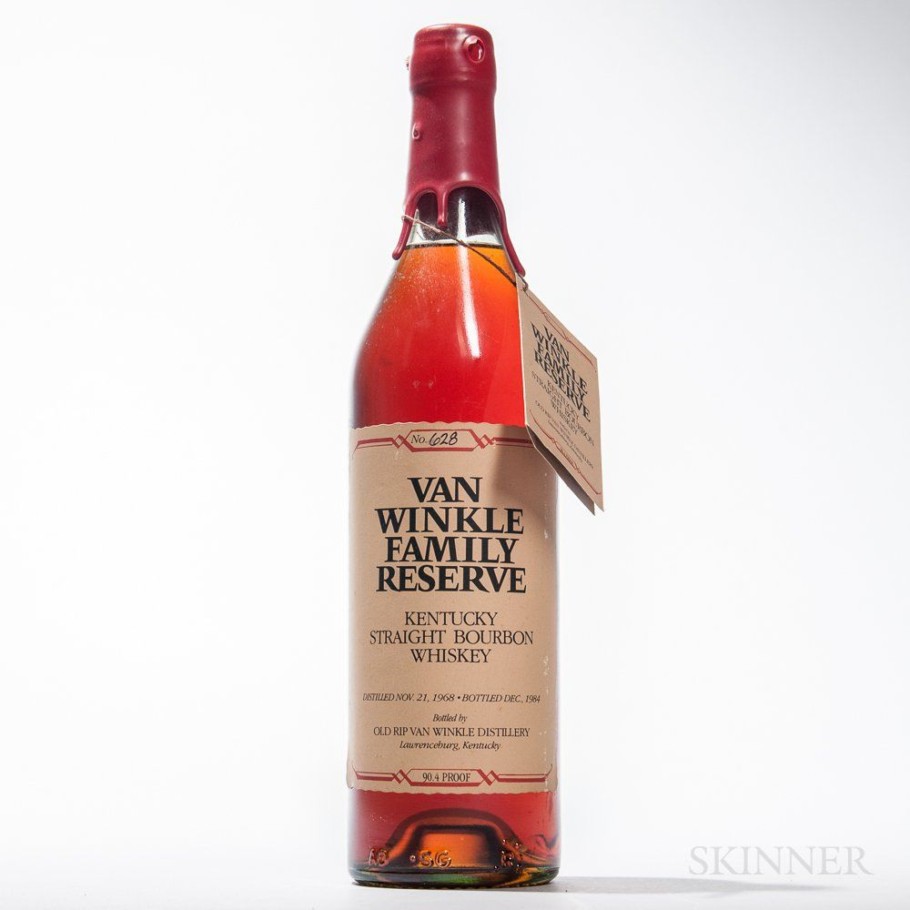 Van Winkle Family Reserve 16 Years Old 1968 Lot 2035 Auction 3028t Estimate 4 000 5 000 Fine Wine Kentucky Straight Bourbon Whiskey Wines