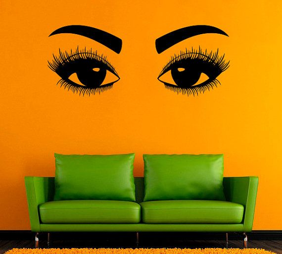 eyes vinyl decal eyelashes wall sticker beautyandreadecals