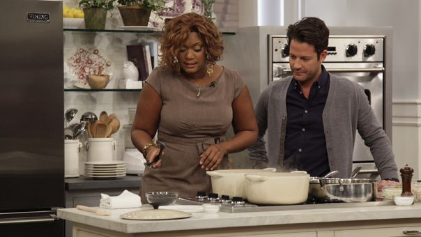 Nate Berkus: Nate Berkus: Sunny Anderson Dishes.Baked Chicken Casserole and Banana Fritters