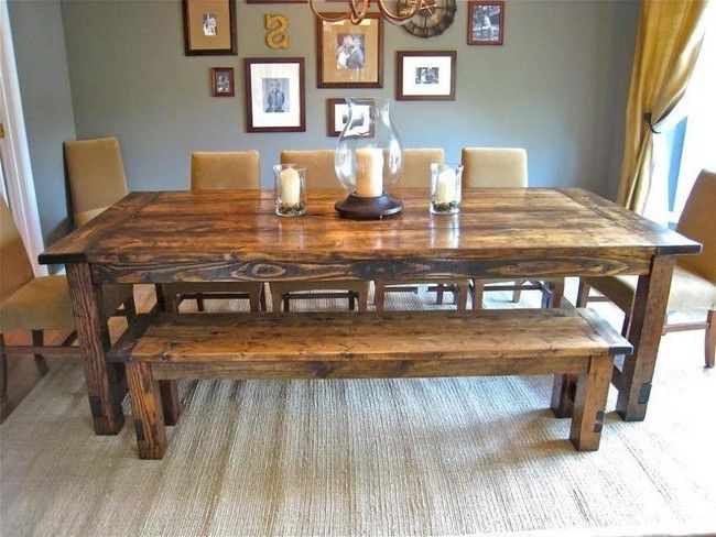 Table with rich, wooden texture