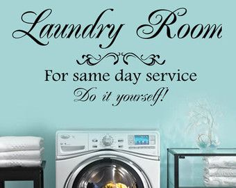 Items similar to laundry room vinyl wall decal the laundry room for laundry room for same day service do it yourself vinyl wall lettering decal large size options wall quotes solutioingenieria Choice Image